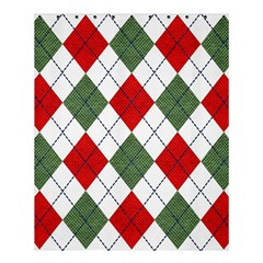 Red Green White Argyle Navy Shower Curtain 60  X 72  (medium)  by AnjaniArt