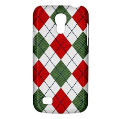 Red Green White Argyle Navy Galaxy S4 Mini by AnjaniArt