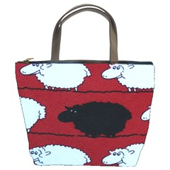 Sheep Pattern Bucket Bags by AnjaniArt