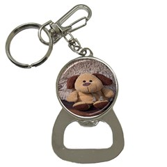 Stuffed Animal Fabric Dog Brown Bottle Opener Key Chains