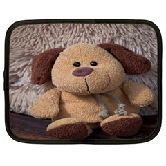 Stuffed Animal Fabric Dog Brown Netbook Case (xxl)  by AnjaniArt