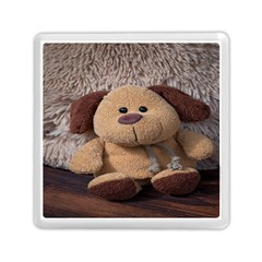 Stuffed Animal Fabric Dog Brown Memory Card Reader (square)  by AnjaniArt