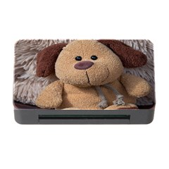 Stuffed Animal Fabric Dog Brown Memory Card Reader With Cf