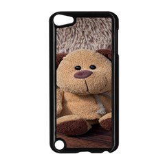 Stuffed Animal Fabric Dog Brown Apple Ipod Touch 5 Case (black)