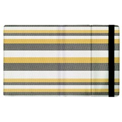 Textile Design Knit Tan White Apple Ipad 2 Flip Case