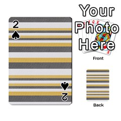 Textile Design Knit Tan White Playing Cards 54 Designs