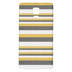 Textile Design Knit Tan White Galaxy Note 4 Back Case by AnjaniArt