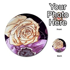 Texture Flower Pattern Fabric Design Multi Purpose Cards (round)  by AnjaniArt