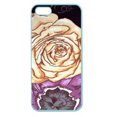 Texture Flower Pattern Fabric Design Apple Seamless Iphone 5 Case (color) by AnjaniArt