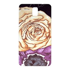 Texture Flower Pattern Fabric Design Samsung Galaxy Note 3 N9005 Hardshell Back Case by AnjaniArt