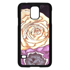 Texture Flower Pattern Fabric Design Samsung Galaxy S5 Case (black) by AnjaniArt