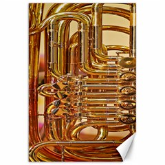 Tuba Valves Pipe Shiny Instrument Music Canvas 20  X 30   by AnjaniArt