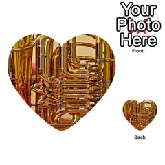 Tuba Valves Pipe Shiny Instrument Music Multi Purpose Cards (heart)  by AnjaniArt