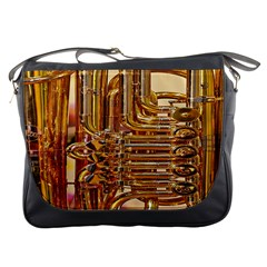 Tuba Valves Pipe Shiny Instrument Music Messenger Bags by AnjaniArt
