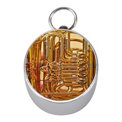 Tuba Valves Pipe Shiny Instrument Music Mini Silver Compasses by AnjaniArt