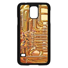 Tuba Valves Pipe Shiny Instrument Music Samsung Galaxy S5 Case (black) by AnjaniArt