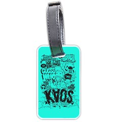 Typography Illustration Chaos Luggage Tags (one Side)