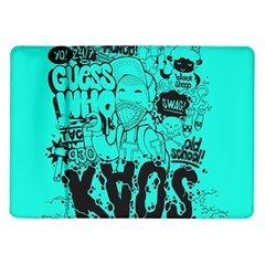 Typography Illustration Chaos Samsung Galaxy Tab 10 1  P7500 Flip Case by AnjaniArt