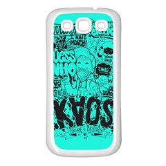 Typography Illustration Chaos Samsung Galaxy S3 Back Case (white)
