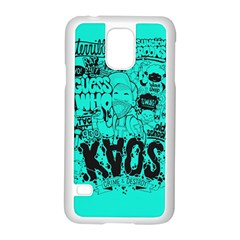 Typography Illustration Chaos Samsung Galaxy S5 Case (white)