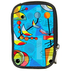 Happy Day   Blue Compact Camera Cases by Valentinaart