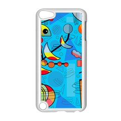 Happy Day   Blue Apple Ipod Touch 5 Case (white) by Valentinaart