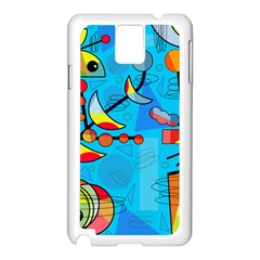Happy Day   Blue Samsung Galaxy Note 3 N9005 Case (white) by Valentinaart