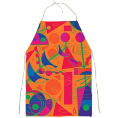 Happy Day   Orange Full Print Aprons by Valentinaart