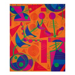 Happy Day   Orange Shower Curtain 60  X 72  (medium)  by Valentinaart