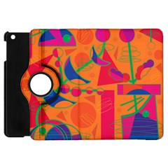 Happy Day   Orange Apple Ipad Mini Flip 360 Case by Valentinaart