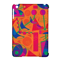 Happy Day   Orange Apple Ipad Mini Hardshell Case (compatible With Smart Cover) by Valentinaart
