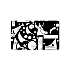 Happy Day   Black And White Magnet (name Card) by Valentinaart