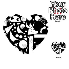 Happy Day   Black And White Playing Cards 54 (heart)  by Valentinaart