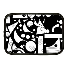 Happy Day   Black And White Netbook Case (medium)  by Valentinaart