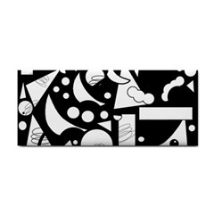 Happy Day   Black And White Hand Towel by Valentinaart