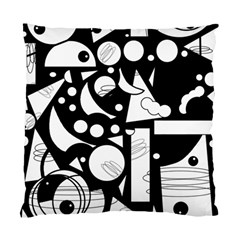 Happy Day   Black And White Standard Cushion Case (one Side) by Valentinaart