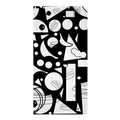 Happy Day   Black And White Shower Curtain 36  X 72  (stall)  by Valentinaart