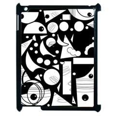 Happy Day   Black And White Apple Ipad 2 Case (black) by Valentinaart