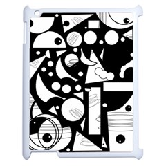 Happy Day   Black And White Apple Ipad 2 Case (white)