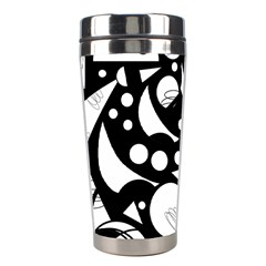 Happy Day   Black And White Stainless Steel Travel Tumblers by Valentinaart