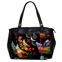 Magical Night  Office Handbags (2 Sides)  by Valentinaart