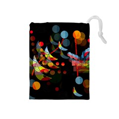 Magical Night  Drawstring Pouches (medium)