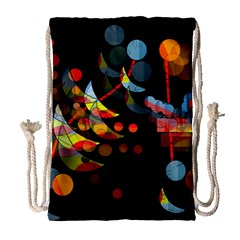 Magical Night  Drawstring Bag (large) by Valentinaart
