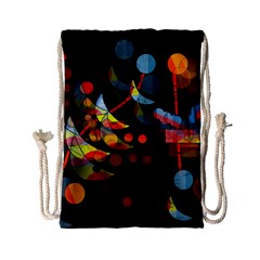 Magical Night  Drawstring Bag (small) by Valentinaart