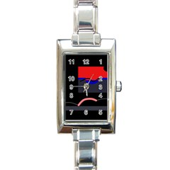 Geometrical Abstraction Rectangle Italian Charm Watch by Valentinaart