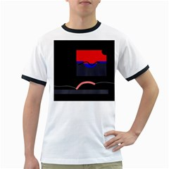 Geometrical Abstraction Ringer T Shirts