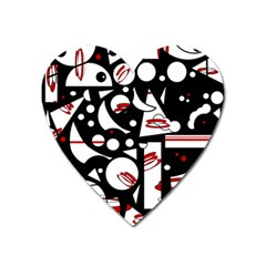Happy Life   Red Heart Magnet by Valentinaart