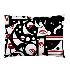 Happy Life   Red Pillow Case by Valentinaart