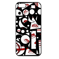 Happy Life   Red Apple Iphone 5 Seamless Case (black) by Valentinaart