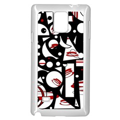 Happy Life   Red Samsung Galaxy Note 4 Case (white) by Valentinaart